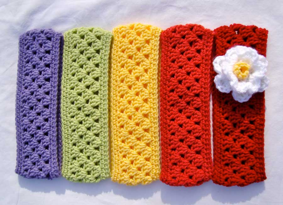 beautiful crochet headband