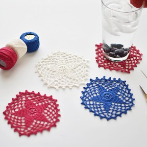 Five-Pointed Star Doily Pattern