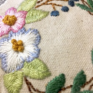 embroidered canvas purse