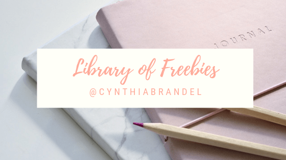 Looking for free bullet journal spreads, weekly meal plans, garden plans, and other tools to organize your life. Look no further than the Library of Freebies at CynthiaBrandel.com. Click through to learn more.