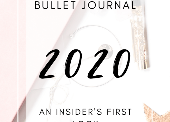 2020 Bullet Journal Setup