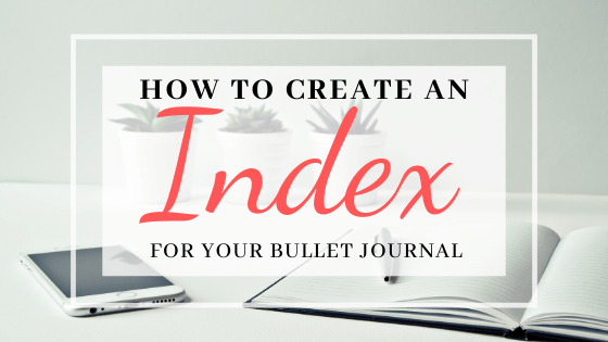 Bullet Journal Index Page Setup