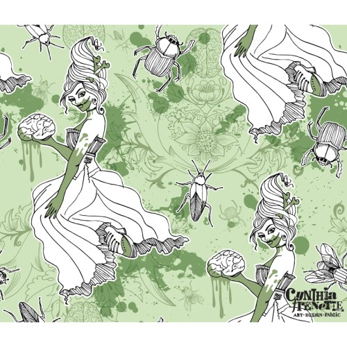 Spoonflower contest, Post- Apocalyptic Toile