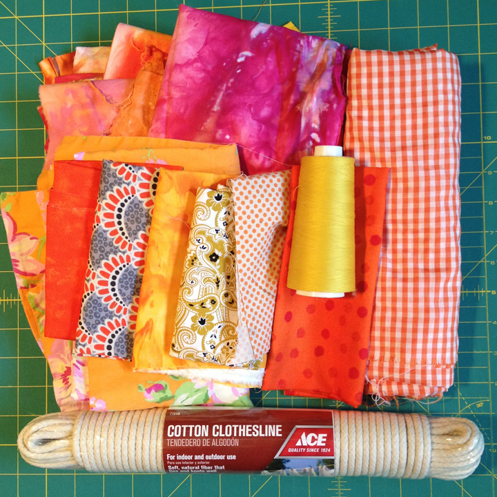 All New Tutorial: How To Make A Sewn Fabric + Rope Basket