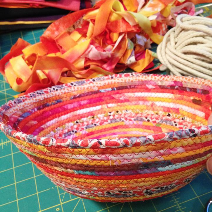 A Finished basket