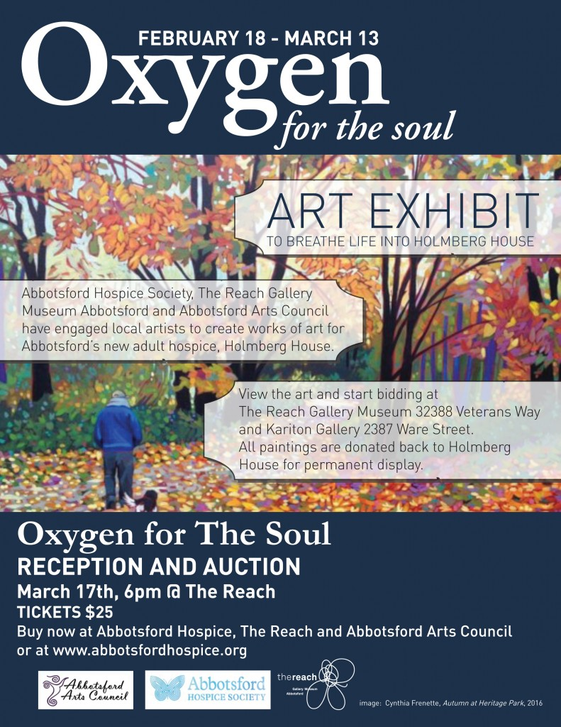 O2 Art Exhibit poster