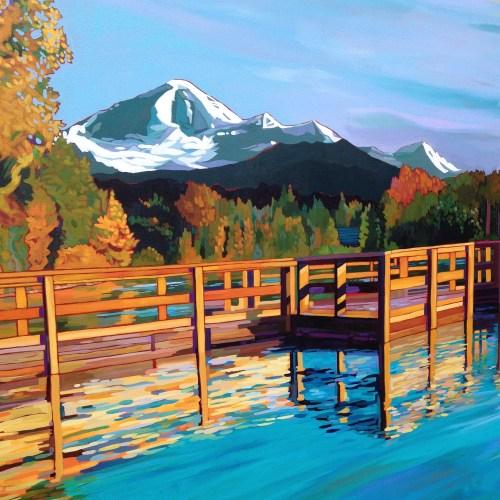 New art finish, Summer Sky at Mill Lake