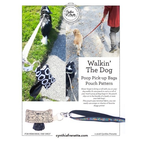 New Pattern: Walkin' The Dog- Dog Doo Bag pouch!