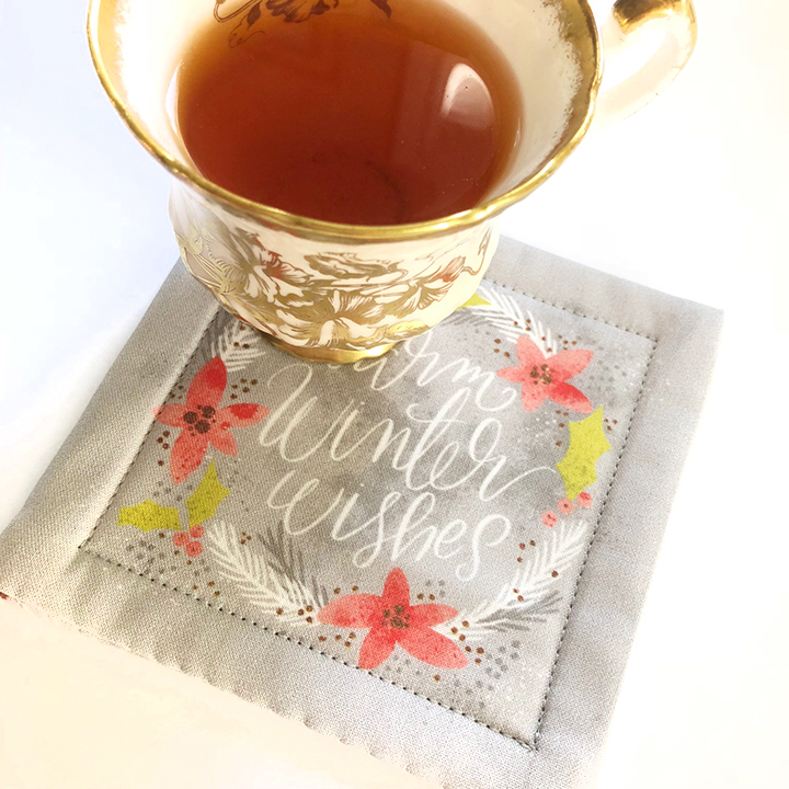 cup of tea and coaster