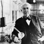 Edison and his light bulb