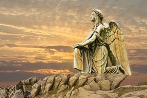 angel worshipping