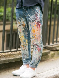 Splattered Painted Boyfriend Jeans