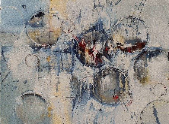 Twist of Fate 12x16 Abstract Oil Painting