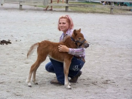 Ashley is as cute as the miniature ponies she shows.