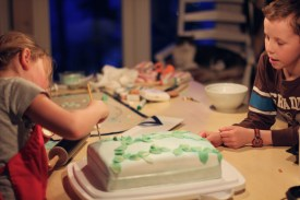 playing with cake decorating.. they have learnt a lot over the years!