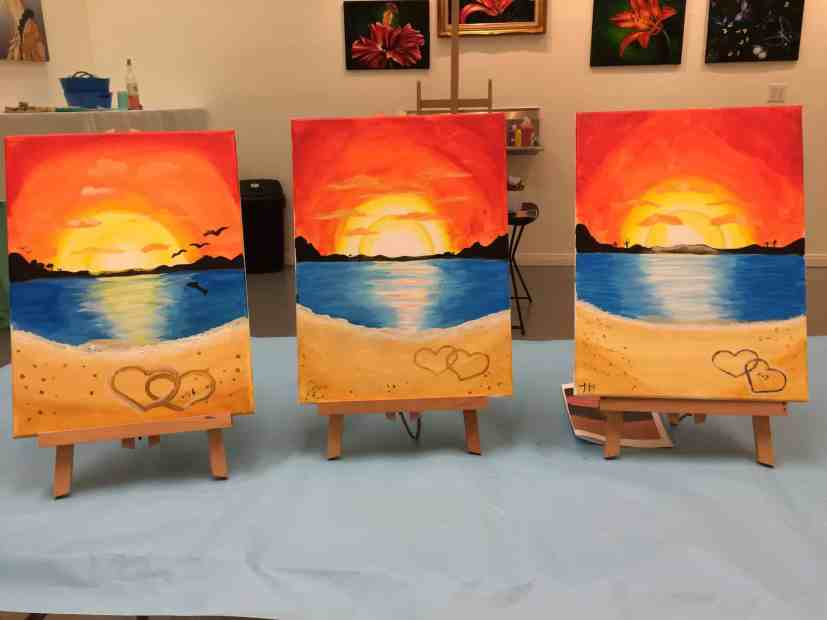date night sip and paint class