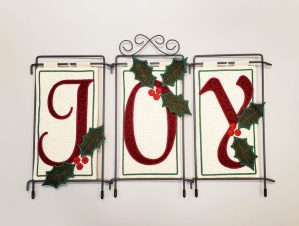 "#555 Embroidered ""Joy"" with Kelly"