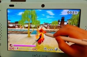 スマイルゼミの忍者ゲーム画面