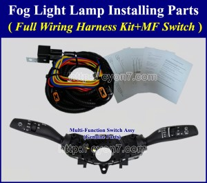 Fog Light Lamp Installing Parts, Full Wiring Harness Kit for 2016~2017 KIA SportageMF Switch