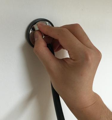 聴診器持ち方かぶせ法