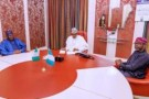 President Buhari, Senate President, Speaker In Closed-Door Meeting {Photos}