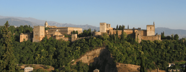 The Alhambra palace fortress in Granada