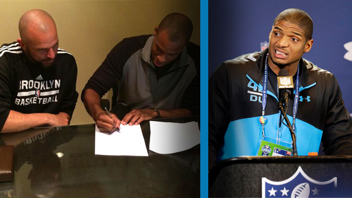 Jason Collins Signs with Nets; Michael Sam Displays Class at NFL Scouting Combine