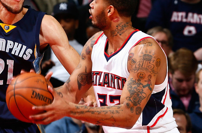 Are ATL Hawks' Mike Scott's Emoji Tattoos The Worst in NBA? Asking For A Friend…