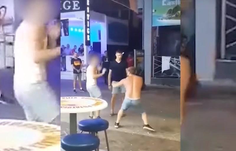 Dwóch na jednego? I tak dał im radę! (film jak z MMA)