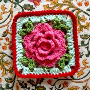 My Interpretation of the Crochet Babouska Rose Tutorial