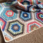 Crochet Blanket: Painted Hexagons Pattern