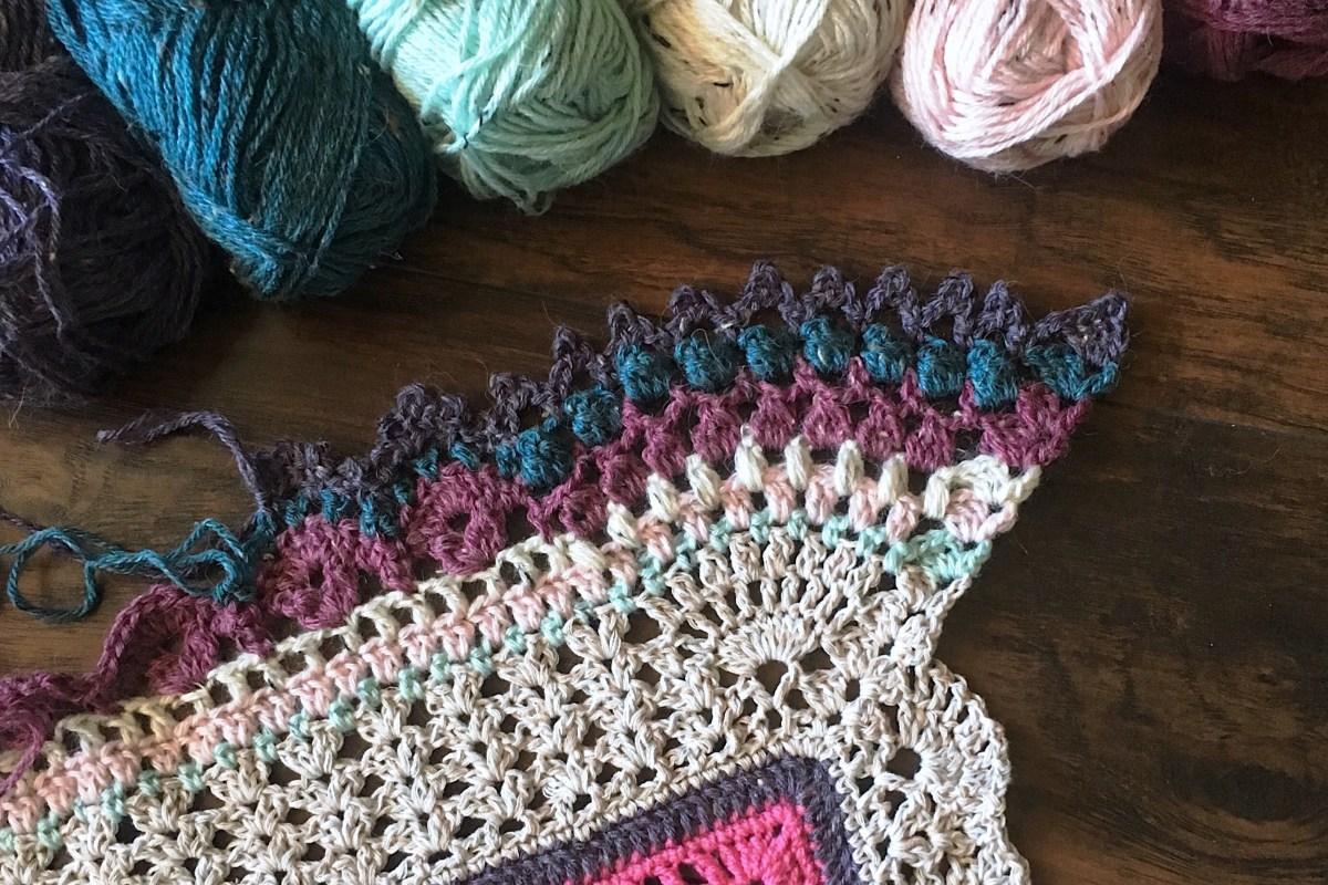 Free Crochet Pattern: Blanket Border - Vibrant Vintage Blanket (VVCAL)