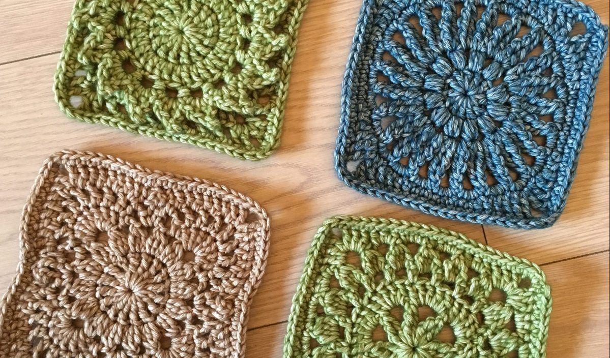 Free Granny Square Crochet Pattern: 4 Floral Motifs