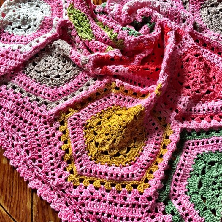 Free Crochet Border Cherry Blossom Edging Cypresstextiles
