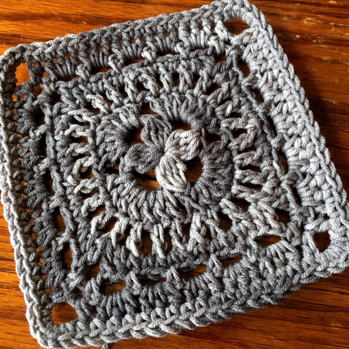 Crochet Motif: Palm Tree Square