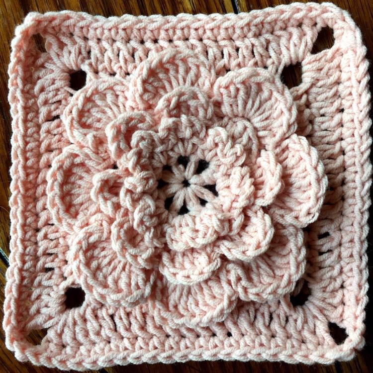 Crochet Motif: Ponderosa Square