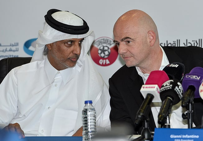 Bildergebnis für qatar fifa world cup infantino good news for fifa ahead of next world cup GOOD NEWS FOR FIFA AHEAD OF NEXT WORLD CUP Infantino web
