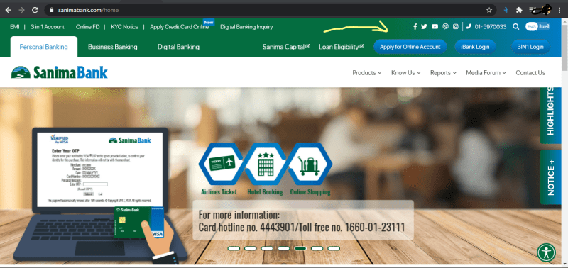 how to open bank account in nepal from cyprus