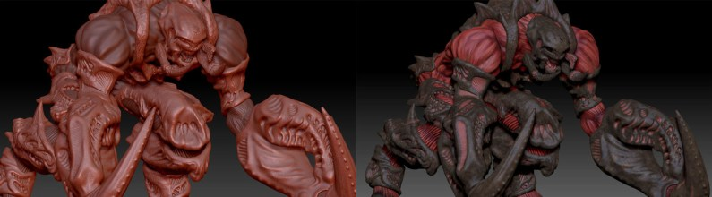 Alien Monster Digital Sculpture