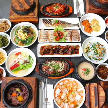 An example of traditional Korean cuisine