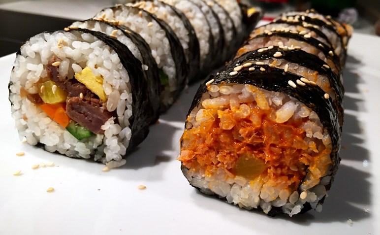 Cooking with HallyuCY: Kimbap - Korean sushi