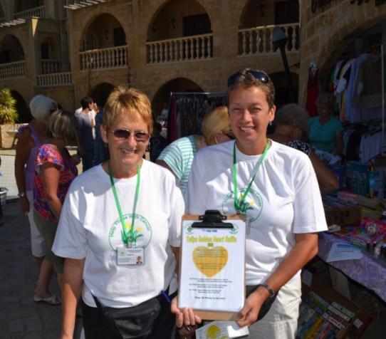 Golden Girls - Carole and Sue. Hard at work at Lambousa Market in 2011