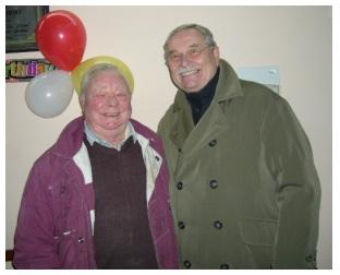 Allan Hill (left) with TFR Chairman Heinz Nauroth
