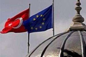 Turkey and EU Flag