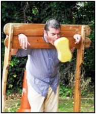 Hurl a wet sponge at Dad in the Stocks on Armed Forces Day