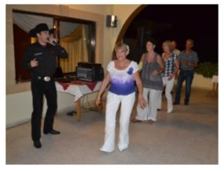 Line dancing with Devon