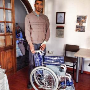 And another wheelchair recently distributed.