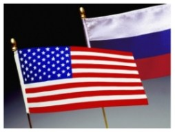 US and Russian Flag