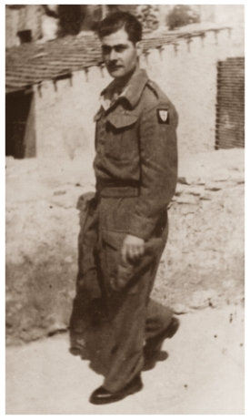 Dad in Italy helping English soldiers