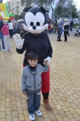 Denzel Karakaya with Mickey Mouse - Christmas comes to Baris Park 2011